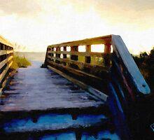 Sunset Boardwalk by Richard Darcy