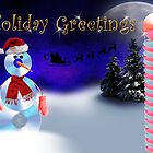 Holiday Greetings CD Snowman by jkartlife