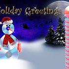 Holiday Greetings CD Snowman by jkartlife