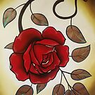 red rose tattoo art card nondenominational