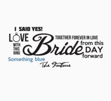 Bride Word Cloud Elegant by Alan Craker