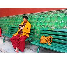 Monk At Yonghegong Lama Temple Photographic Print