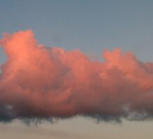 Pink sunset clouds over the Grampians, Australia by Neroli Wesley