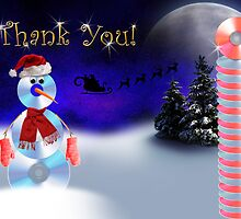 Thank You CD Snowman by jkartlife