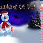 Thinking Of You CD Snowman by jkartlife