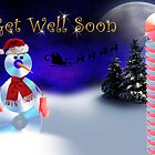 Get Well Soon CD Snowman by jkartlife