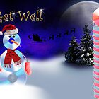Get Well CD Snowman by jkartlife
