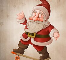 Santa Claus on skateboard by jordygraph
