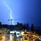 Lightning bolt over Caloundra by Higginsstormcha