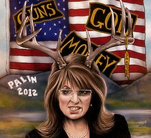 Sarah Palin original art by Dori Hartley