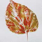 Lime Leaf Print 2 by Jennifer J Watson