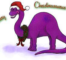 Merry Christmas Dinosaur by Diana *BunnyKissd* Bukowski