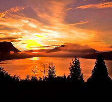 Sunrise Mt MAXWELL, Maple Bay, BC, Canada by Andrew  MCKENZIE