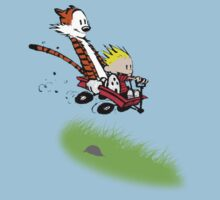 Calvin & Hobbes Downhill Carting by EasilyConfused1