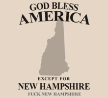 God Bless America Except For New Hampshire by crazytees