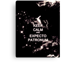 Keep Calm and Expecto Patronum - Glowing Stag Canvas Print