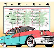 2014 Poster Calendar: Vintage '56 Pontiac Star Chief by Michel Godts