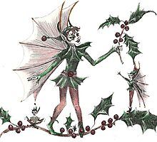 Yuletide Fairy by KarenFleisch