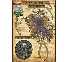 Morrowind The Elder Scrolls Map Photographic Print