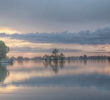 HDR Sunset At Lake St. John by ronburt