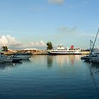 Dockyard Sunset Panorama by John Gaffen