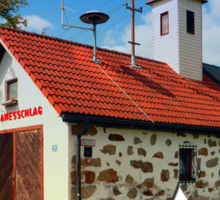 Old traditional firehouse II | architectural photography Sticker