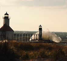 St Joseph North Pier Lighthouse - 3 by Debbie Mueller