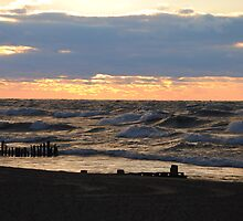 Sunset along Lake Michigan - 1 by Debbie Mueller