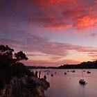 Sunset over Blackwall reach lookout by BeninFreo