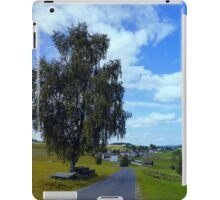 Old tree, country road and a cloudy sky | landscape photography iPad Case/Skin