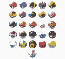 Minimalist Colection of Poké Balls  by Himehimine