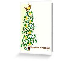 Season's Greetings - Partridge in a Pear Tree - Christmas - Card Greeting Card