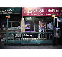 Subway and Shops, NYC Photographic Print