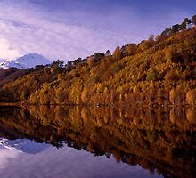 Loch Affric reflections (cropped to suit cards) by Kevin Allan