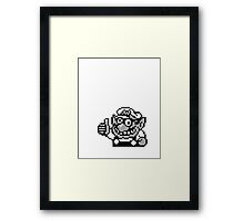 Wario B&W Framed Print