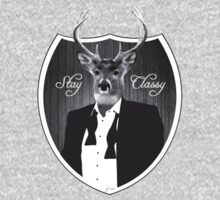 Deer in tuxedo by WAMTEES