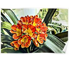 FLowers in Bloom Linen / Canvas Digital Painting Poster