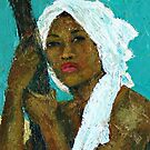 Black Lady with White Head-dress by Jann Ashworth