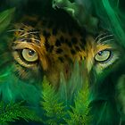 Jungle Eyes - Jaguar by Carol  Cavalaris