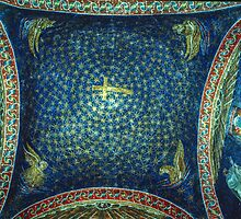Central roof of tomb of Gallia Placida Ravenna Italy 198404140059 by Fred Mitchell