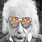 albert einstein with thick glasses by benyuenkk