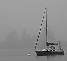 Sailboat and Fog by stilgar