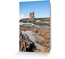 Coastal Waters - Cathedral Rocks Greeting Card