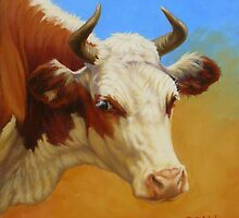 Cow Face by Margaret Stockdale