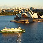 Sydney Opera House from the Harbour Bridge by marshstudio