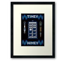 Timey-Wimey Xmas Framed Print