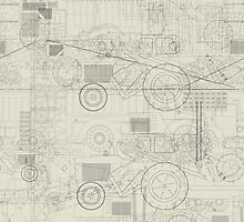 Industrial vehicles pattern by Richard Laschon