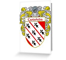 Castaneda Coat of Arms/Family Crest Greeting Card