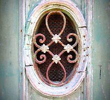 Oval detail in old door by juliedawnfox
