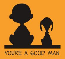 Charlie Brown Good Man by angrymen
